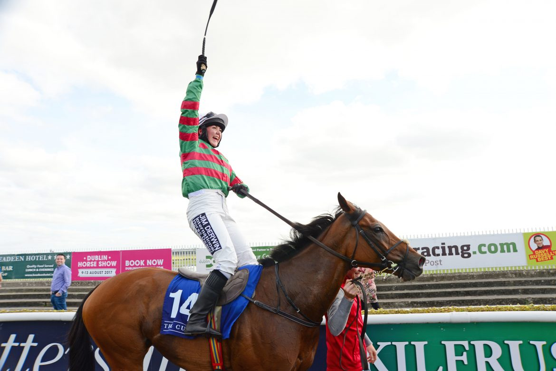 LYNNE MCLOUGHLIN WINS FIRST LEG OF THE IRISH INJURED JOCKEYS CORINTHIAN CHALLENGE AT THE CURRAGH