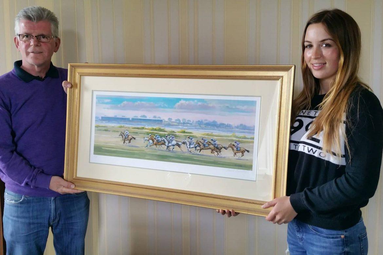 Corinthian Challenge rider Alan Redmond of Redmond Fine Art offering limited edition print for fundraising