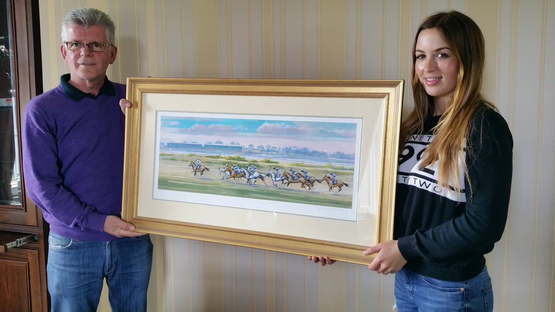 Corinthian Challenge rider Alan Redmond of Redmond Fine Art offering limited edition print for fundraising