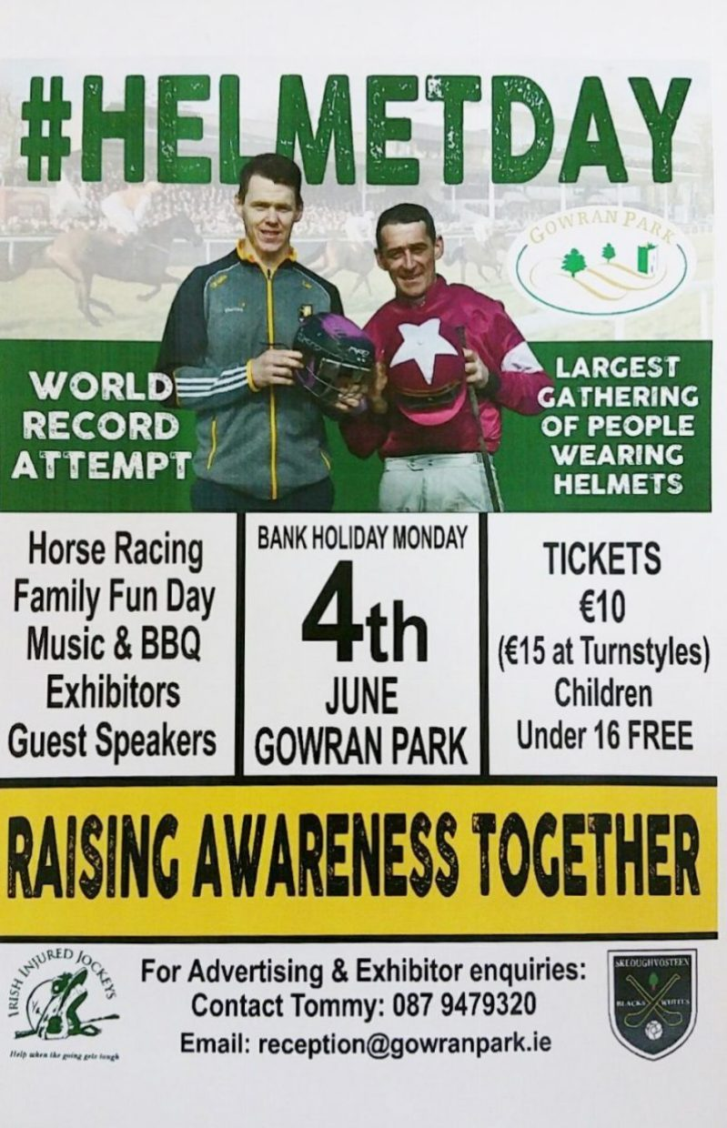"""World Record Attempt """"Helmet Day"""" at Gowran Park MONDAY JUNE 4th 2018"""