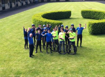 Racing unicycles from the bottom of Ireland to the top for the Irish Injured Jockeys Fund: a World Record attempt!
